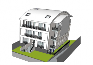 Apartement builiding in Sevran with 8 units